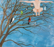 God Teaches Birds to Fly, Oil on Canvas, 210 x 240 cm, 2012/13