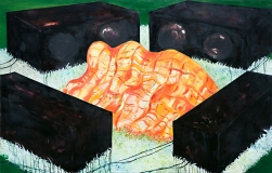 Listening to Music, Oil on Canvas, 160 x 250 cm, 2006