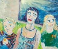 The Line, Oil on Canvas, 100 x 120 cm, 2004