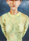 Selfportrait, Oil on Canvas, 120 x 85 cm, 2004